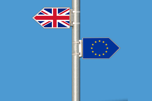 businesses affected by brexit EU and UK sign post
